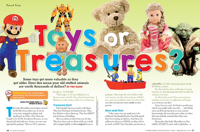 Toys Or Treasures Reading Passage Grade 4 5 6 Scholastic